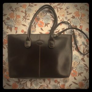 Tod's Vintage Brown Leather purse bag